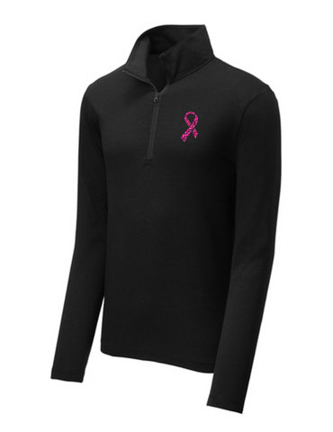 Men's Pink Ribbon Quarter Zip
