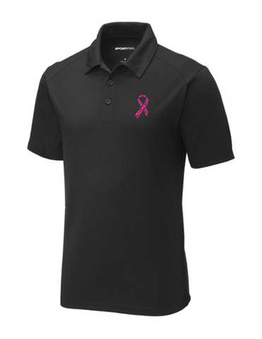 Men's Pink Ribbon Performance Polo
