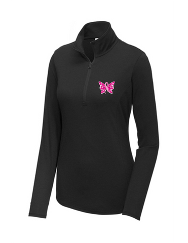 Women's Butterfly Ribbon Quarter Zip