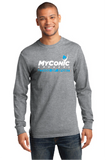 Ethos of Sport Two Color Men's Grey Long Sleeve Shirt