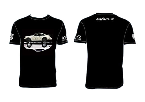 Kelly-Moss Black Safari Porche Reflective T-Shirt