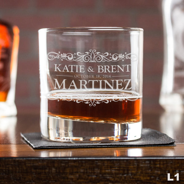 Perfect Your Autumn Bar Cart With Personalized Whiskey Glasses