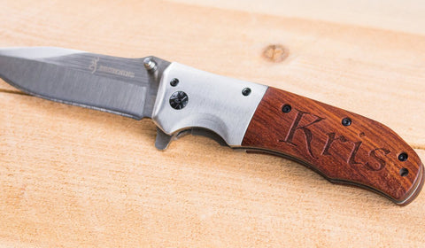personalized browning folding knife