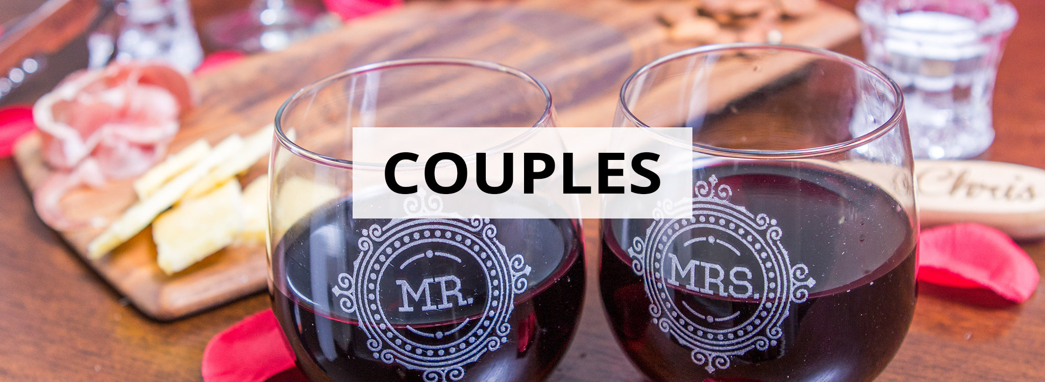 Custom His And Hers Wedding Gifts Couples Engraved Glasses
