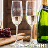 2 Champagne Glass Set - Design: HH1