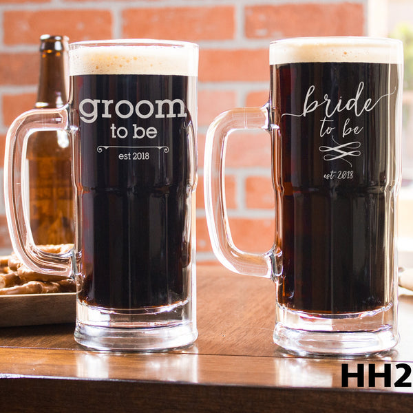 2 Beer Mug Set - Design: HH2