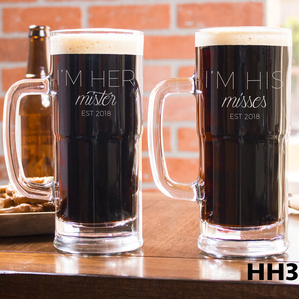 2 Beer Mug Set - Design: HH3