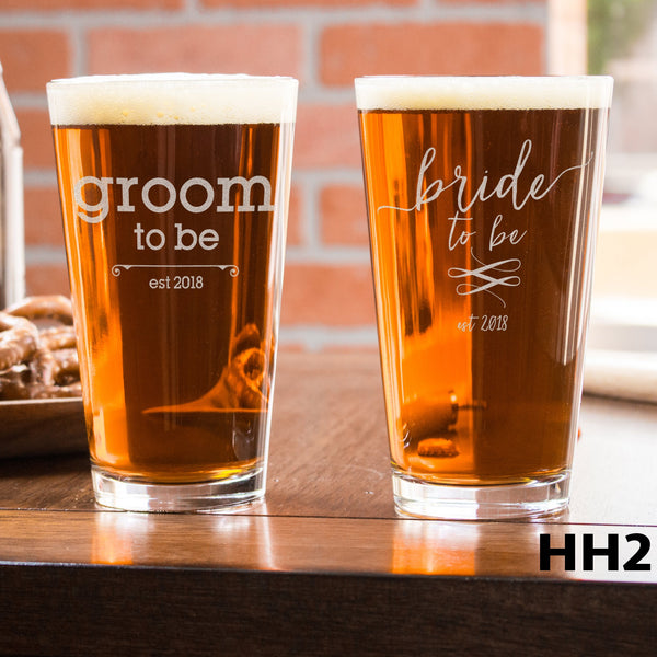 2 Pint Glass Set - Design: HH2