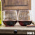 2 Stemless Red Wine Glass Set - Design: HH1