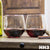 2 Stemless Red Wine Glass Set - HH3