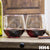 Etched Stemless Red Wine Glasses Set of 2 - Design: HH4 Mr & Mrs