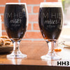 2 Stout Glass Set - Design: HH3