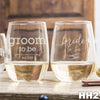 2 Stemless White Wine Glass Set - HH2