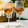 2 White Wine Glass Set - Design: Smile & Laugh