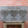 Personalized wood wall art 30x16 is customized with your unique information.