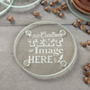 4 Glass Coaster Set - Design: Custom Design/Logo