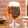 Personalized Belgian beer glass is customized with your logo, monogram, image, or text.