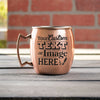 Engraved copper mug is customized with your logo, monogram, image, or text.