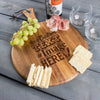 Personalized Cheese Board Round is customized with your logo, monogram, image, or text.
