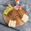 Monogram Round Cheese Board - 9 Designs