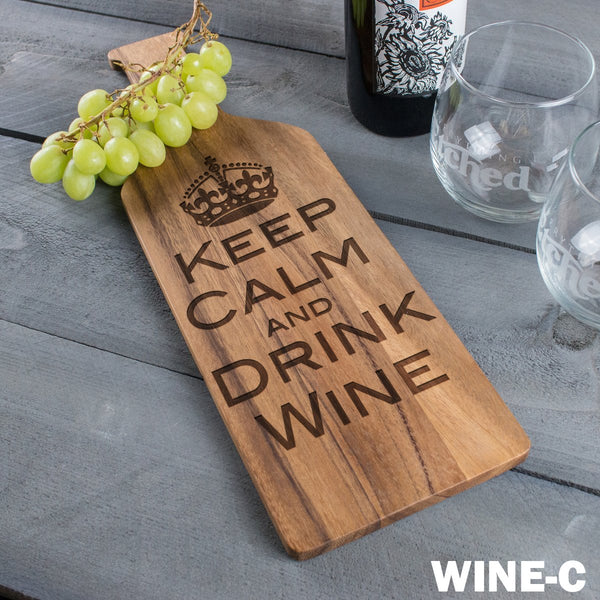 Wine Cheese Board - Design: Wine w/Crown