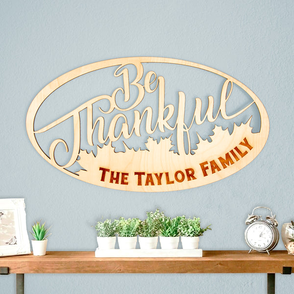 Be Thankful Wall Sign
