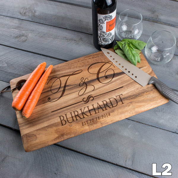 Monogram Large Cutting Board - 9 Designs
