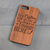 Personalized Wood Phone Case - Design: CUSTOM