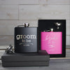 Black and Pink Flask Set - Design: HH2
