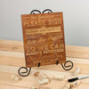 Wedding Guest Book Sign for Wine Lovers with Stand