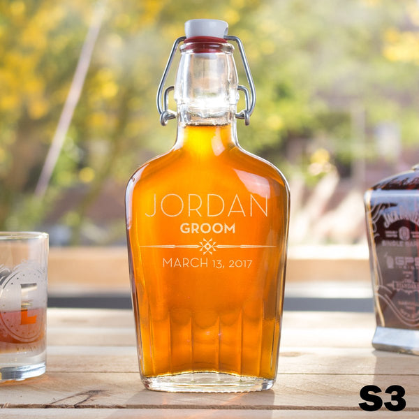 Personalized Glass Flask - 12 Designs