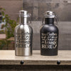 Stainless Steel Personalized Growler is customized with your logo, monogram, image, or text.