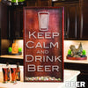 Large Rectangle Beer Bottle Cap Holder - Design: Beer