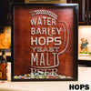 Large Square Drop Box - Hops