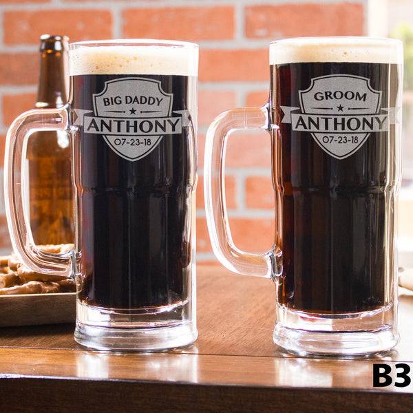 Personalized Beer Mug - 12 Designs