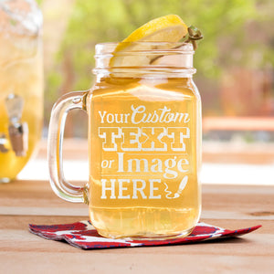 Engraved Mason Jars