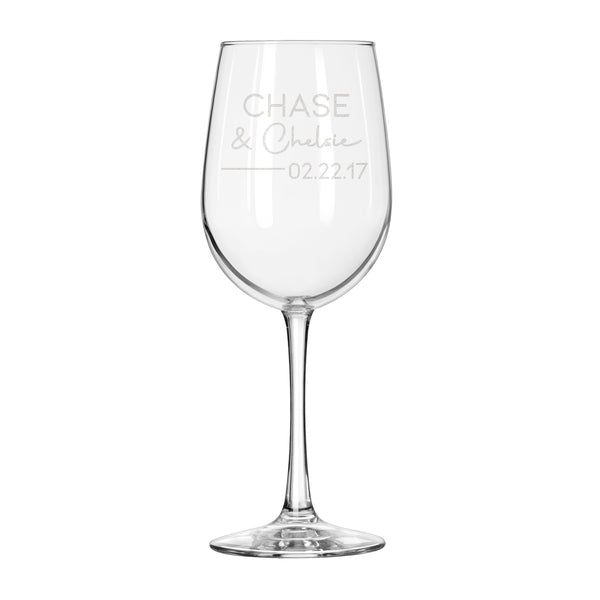 Relationship Personalized White Wine Glass - Design: N6