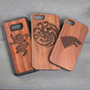 Wood Phone Case - Design: Game of Thrones Sigils