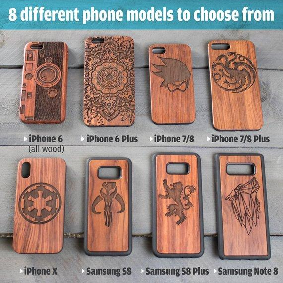 Wood Phone Case Harry Potter House Sigils - Design: HARRYPOTTER