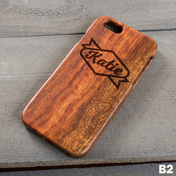 Wood Phone Case - Design: B2
