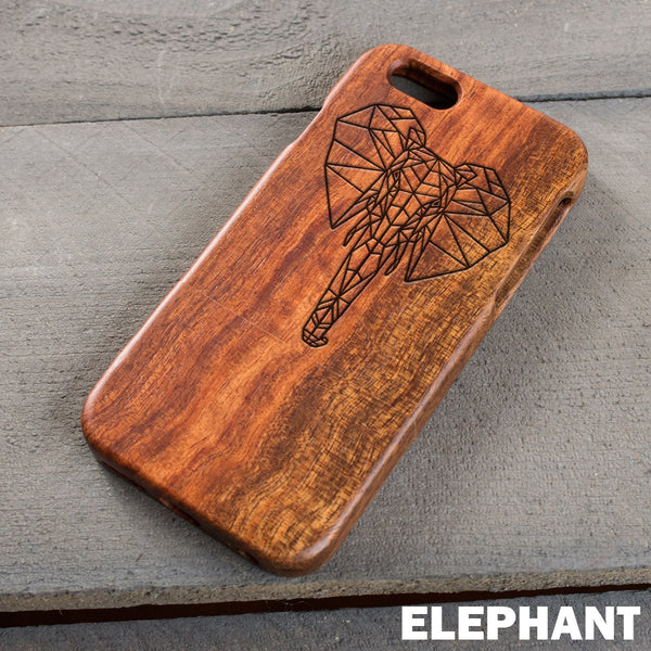 Wood Phone Case - Elephant