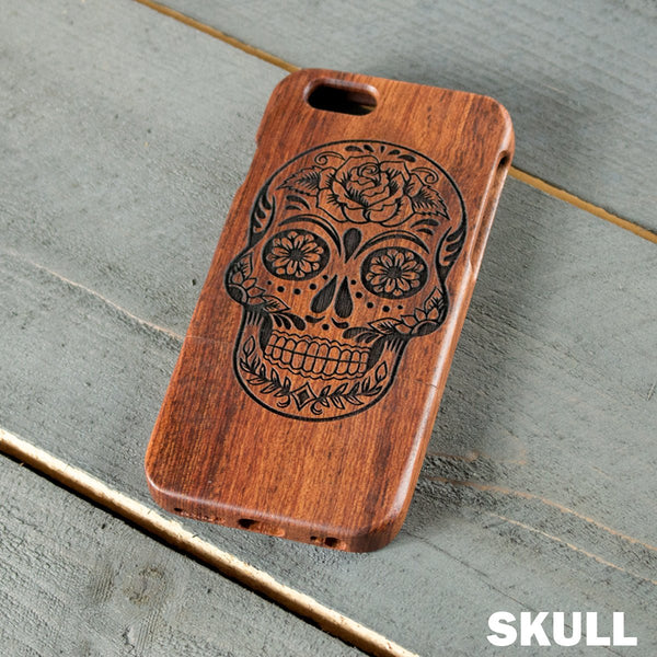 Wood Phone Case - Design: SKULL