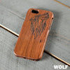 Wood Phone Case - Wolf