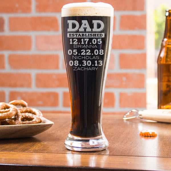 Pilsner Glass Dad Established - Design: DADEST