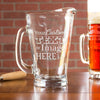 Glass Pitcher - Custom Design/Logo