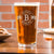 Etched Pint Glass Personalized - Design: B1