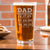 Etched Pint Glass Dad Established - Design: DADEST