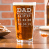 TEST Etched Pint Glass - Dad Established