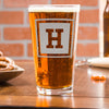 Etched Pint Glass - Design: INITIAL1