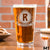 Etched Pint Glass Monogram - Design: M1